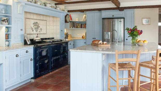 Country Blue Kitchen Interior Design