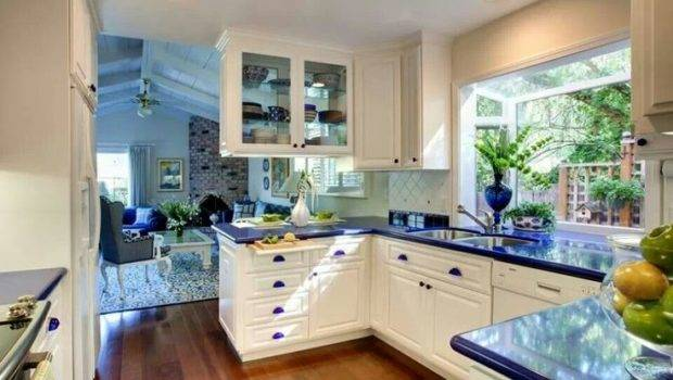 Country Blue Kitchen White Pinterest