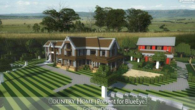 Country Home Ranch House Farm Minecraft Building Ideas Story
