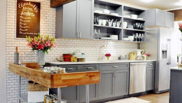 Country Kitchen Gray Cabinets Beautiful Has White