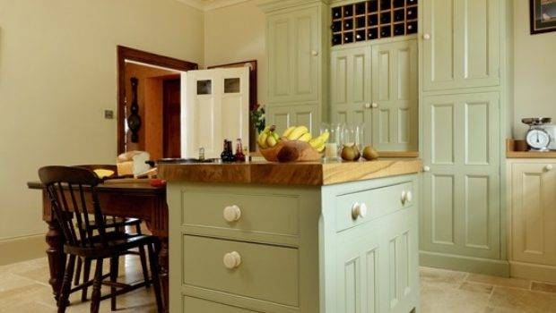 Country Kitchen Painted Island Unit Housetohome