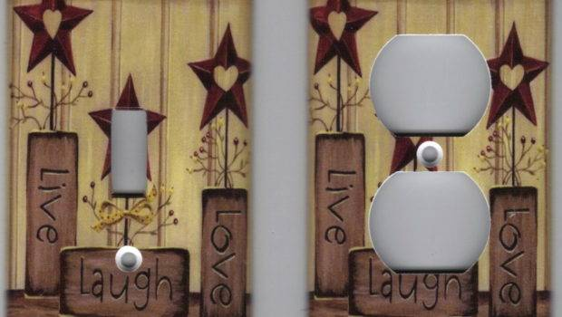 Country Live Love Laugh Home Decor Outlet Light Switch Plate