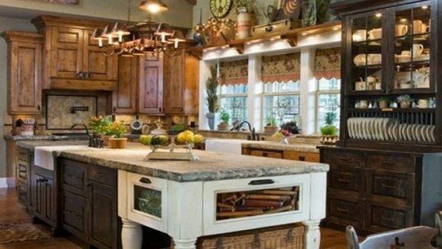 Country Primitive Kitchen Kitchens Over Top Pinterest