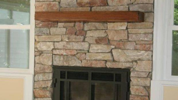 Covering Gas Fireplace Stone Make Look Real