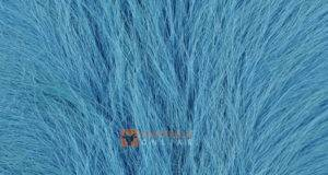 Cowhide Rug Bright Blue Dyed Kuhfelle Nomad