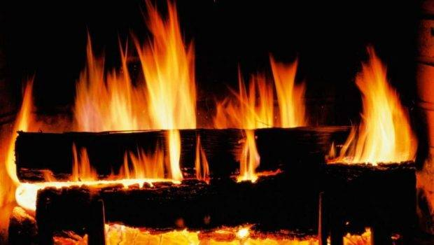 Cozy Fireplace Fire Winter