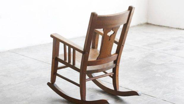 Craftsman Era Rocking Chair Solid Oak Sale Stdibs