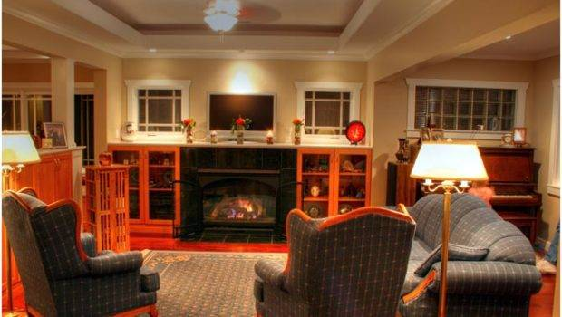 Craftsman Style Bungalow Great Room Living Design