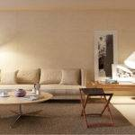 Cream Living Room Interior Design Ideas