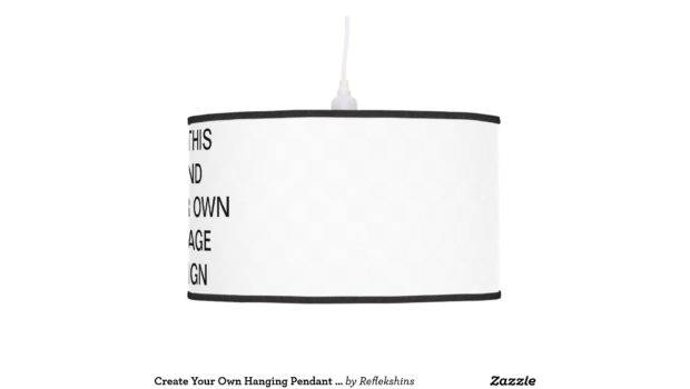 Create Your Own Hanging Pendant Lamp Zazzle
