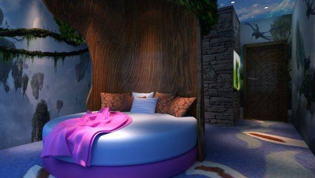Creative Bedroom Round Tree Bed House