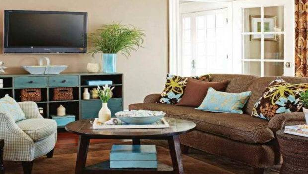 Creative Coffee Table Decorating Ideas Brown Carpet