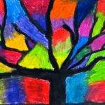 Creative License Oil Pastel Trees
