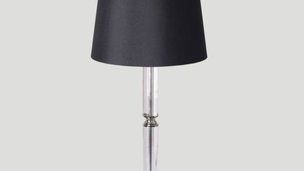 Crystal Black Fabric Shade Table Lounge Lamp Bedside Lamps