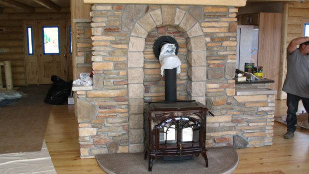 Cultured Stone Hearth Wood Stove Can Forget Amazing