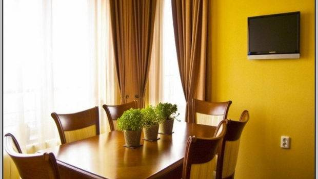 Curtain Yellow Color Wall Home Combo
