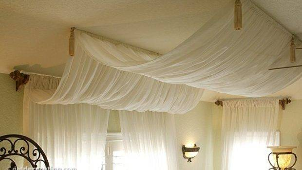 Curtains On The Ceiling - Curtains Design Gallery
