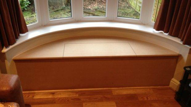 Curved Bay Window Seat Storage Box Made Installed Saltaire