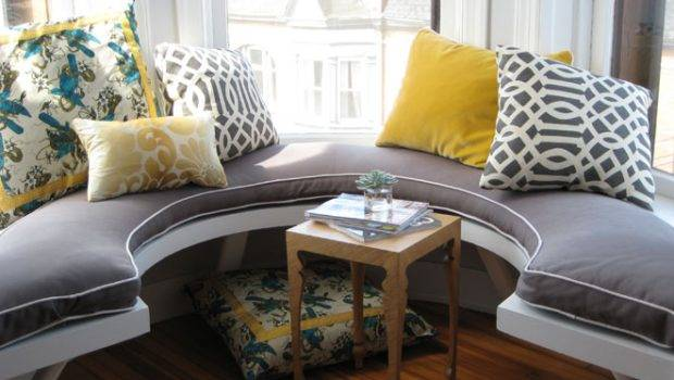 Curved Window Seat Eclectic Living Room Summer Thornton Design