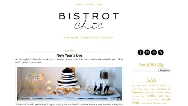 Custom Blog Design Modern Bistrot Chic Blogger