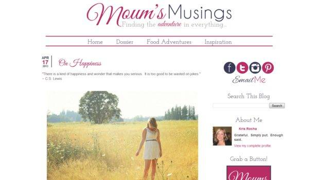 Custom Blog Design Moum Musings Blogger