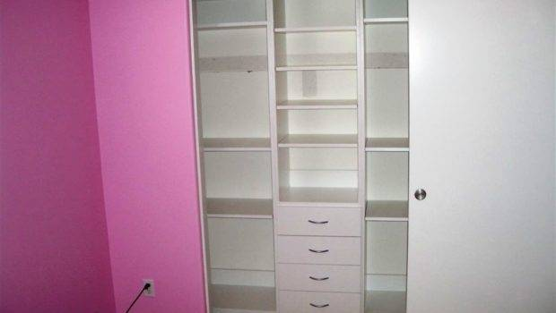 Custom Closet System Has Built Drawers Shelves