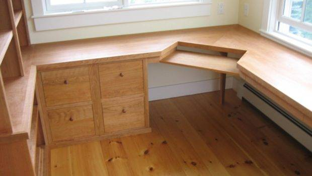 Custom Computer Desk Cabinetry Furniture Woodworking