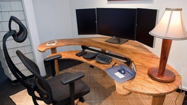 Custom Computer Desk Cool Photograph Ideas