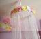 Custom Fabric Flower Canopy Bed Pinkapotamus