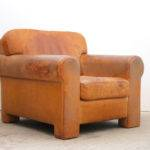 Custom Leather Club Chair Stdibs