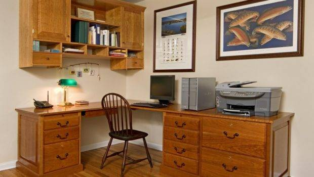 Custom Made Home Office Desk Cabinet