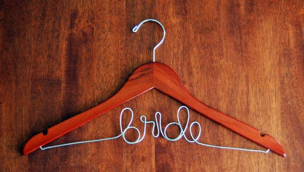Custom Wedding Hanger Cherry Finish Personalized Bridal