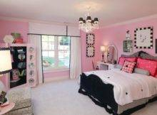 Cute Pink Black Bedroom Decorations Ideas