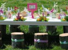 Cute Table Love Tree Stumps Chairs Tables