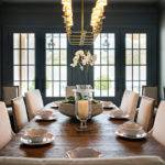 Dark Gray Dining Room Painted Lightning