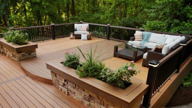 Decks Raised Grade Level Outdoor Design Landscaping Ideas
