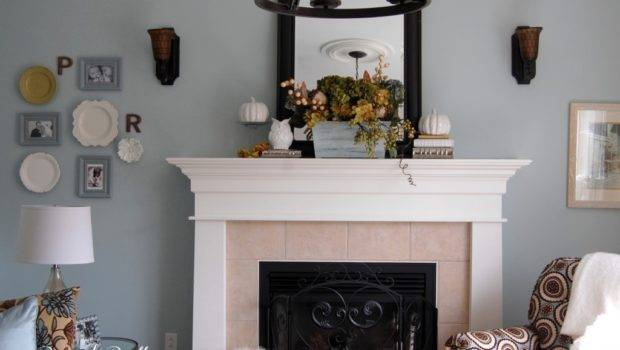 Decorate Fall Mantel Mantle Without Traditional Color