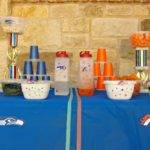 Decorate Table Broncos Seahawks Super Bowl Party