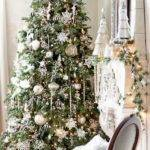 Decorated House Christmas White Silver