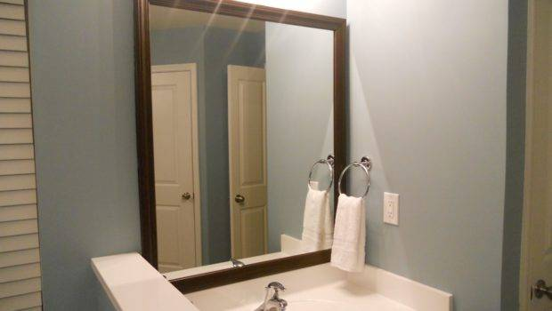 Decorating Cents Framing Bathroom Mirrors