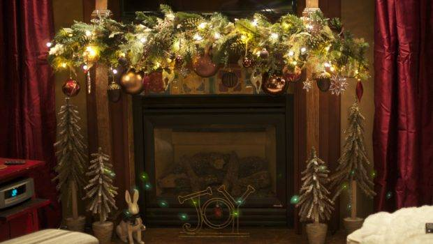 Decorating Ideas Mantels Christmas Also Rustic Fireplace