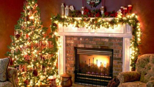 Decorating Ideas Old Fashioned Christmas Fireplace
