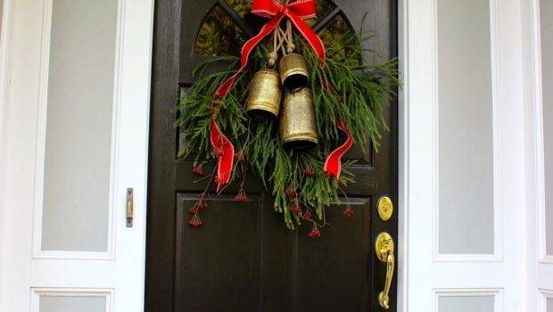 Decorating Our Front Door Christmas Driven Decor