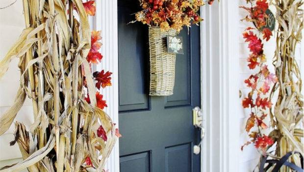 Decorating Your Front Door Fall Homes