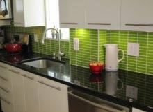 Decoration Beauty Bathroom Green Colored Subway Tile Backsplash