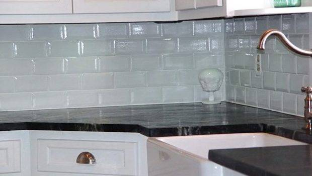 Decoration Coloured Subway Tile Kitchen Backsplashes