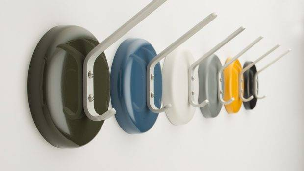 Decoration Funky Wall Hooks Mounted Various Colors