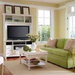 Decoration Room Decor Ideas Green Sofa Cushions Cream Wall Paint