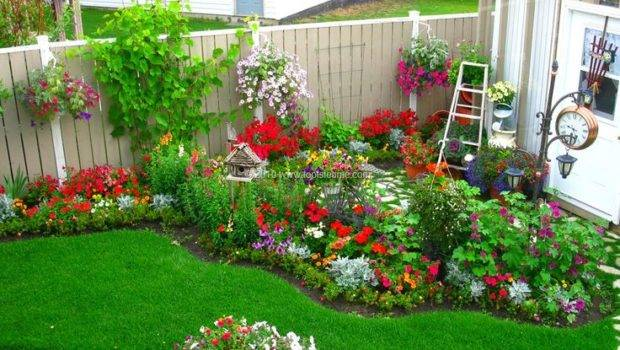 Decorations Landscaping Ideas Small Flower Beds All