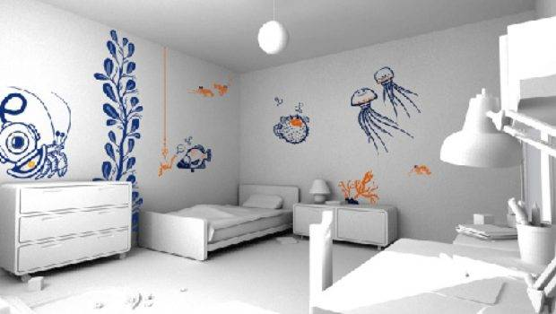 Decorations White Modern Bedroom Interior Feature Cool